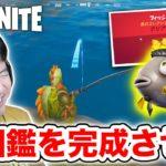 【フォートナイト】魚図鑑を完成させる!マイダスフロッパーも釣ったぜ🐟